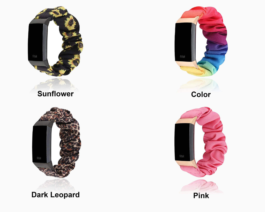 Watchbands Scrunchie Elastic strap For Fitbit Charge 4 3 Band Women Replacement watch Bands Soft Elastic Sport Strap Bracelet Accessories | Watchbands