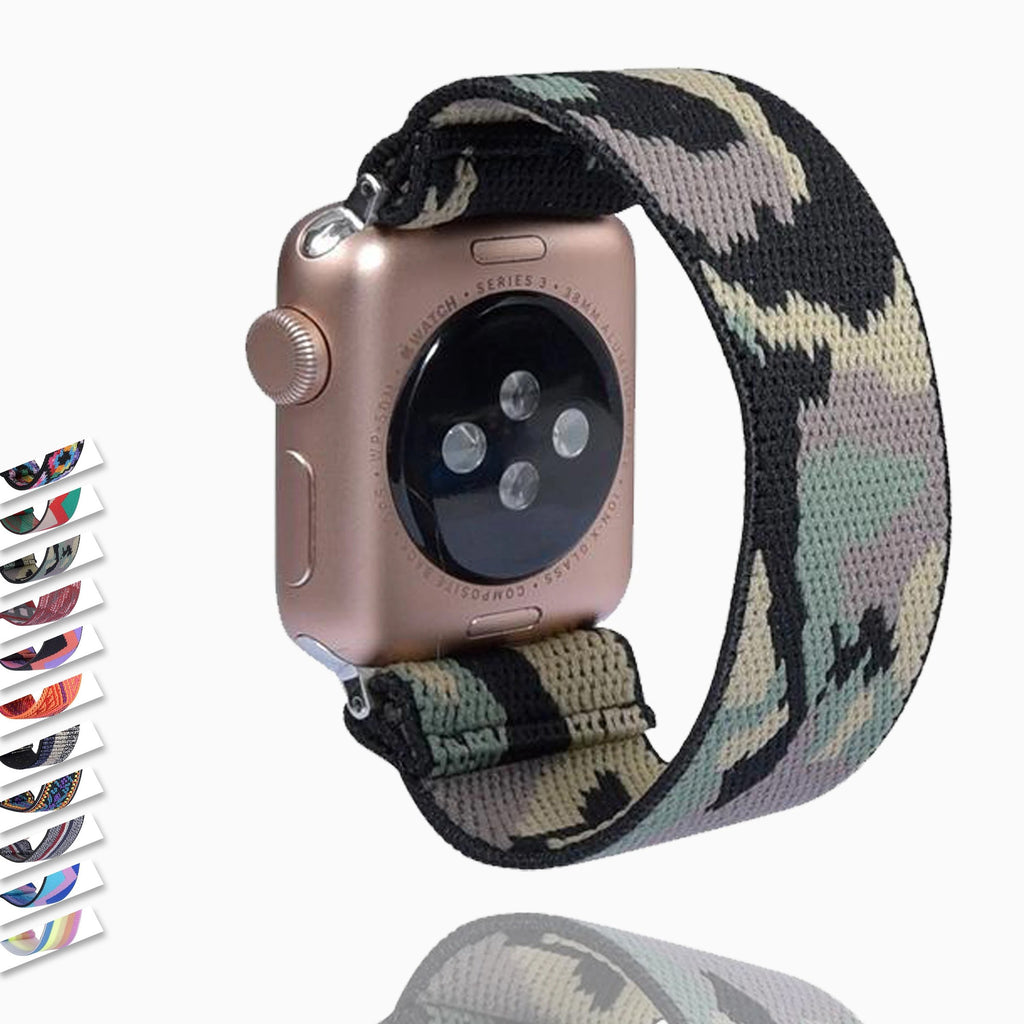 Watchbands Army Green Military Camouflage Apple Watch Band Series 6 5 4 Watchband