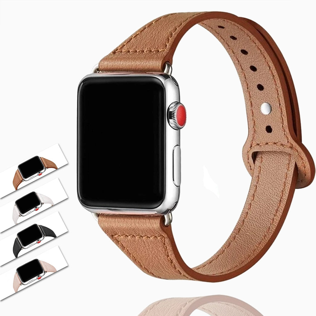 Watchbands High Quality Leather Loop Band For Apple Watch Series 6 5 4 Watchband