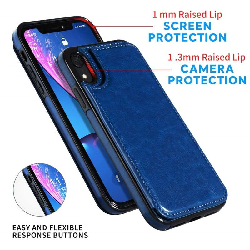 Fitted Cases Business Wallet Cases For iPhone 12 Mini 11 Pro XS Max XR X Cover Retro Flip Leather Phone Case For iPhone 6S 6 7 8 Plus SE 2020|Fitted Cases|