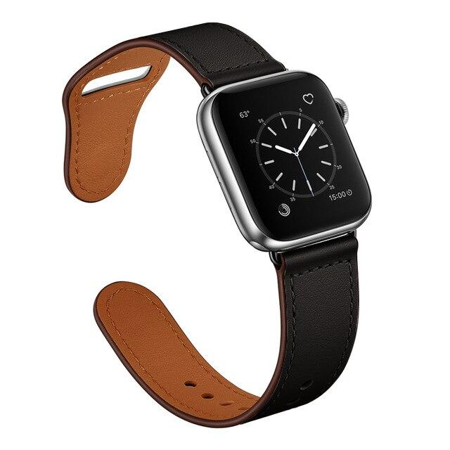 Apple Faux Leather Strap for pulseira apple watch band 42mm 38mm 40mm 44mm sports high-quality correa for apple iWatch bracelet 5/4/3/2 belt
