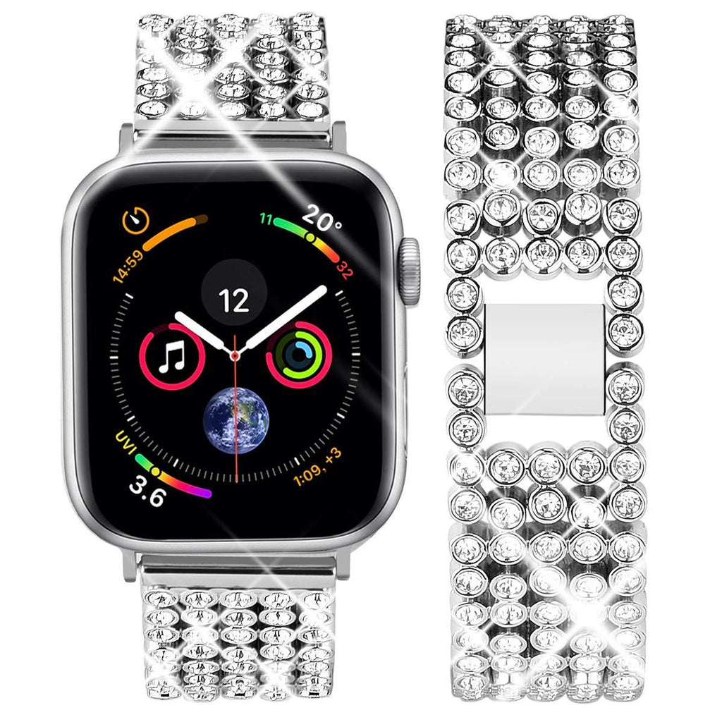 Apple Apple Watch Series 6 5 4 3 2 Band, Stylish Crystal Diamond stainless steel Replacement Band for iWatch 38mm, 42mm, 40mm, 44mm
