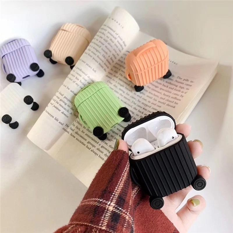 Earphone Accessories Apple Airpods Cover Soft Silicone strunk lovely Shockproof Case for AirPods Thickening Earphone anti-drop Protector Case - US Fast Shipping