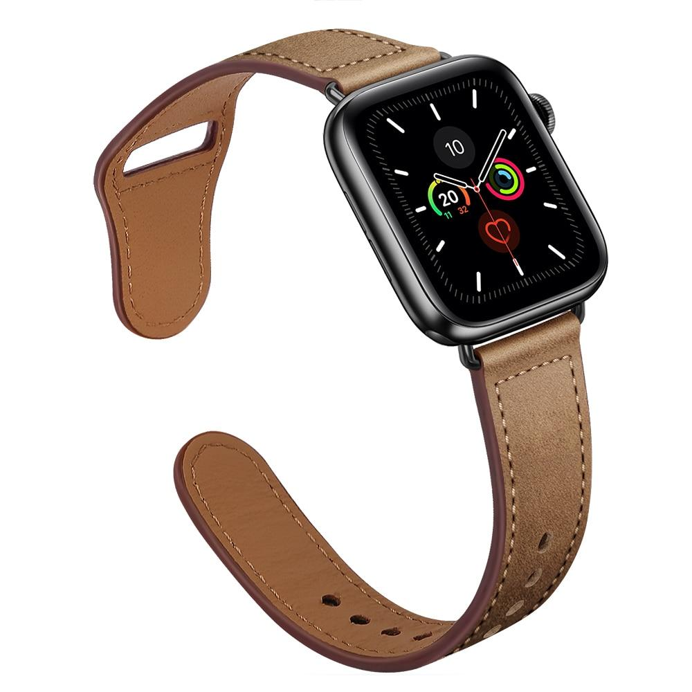 Watchbands Genuine Leather strap For Apple watch band 44 mm 40mm for iWatch 42mm 38mm bracelet for Apple watch series 5 4 3 2 38 40 42 44mm|Watchbands|