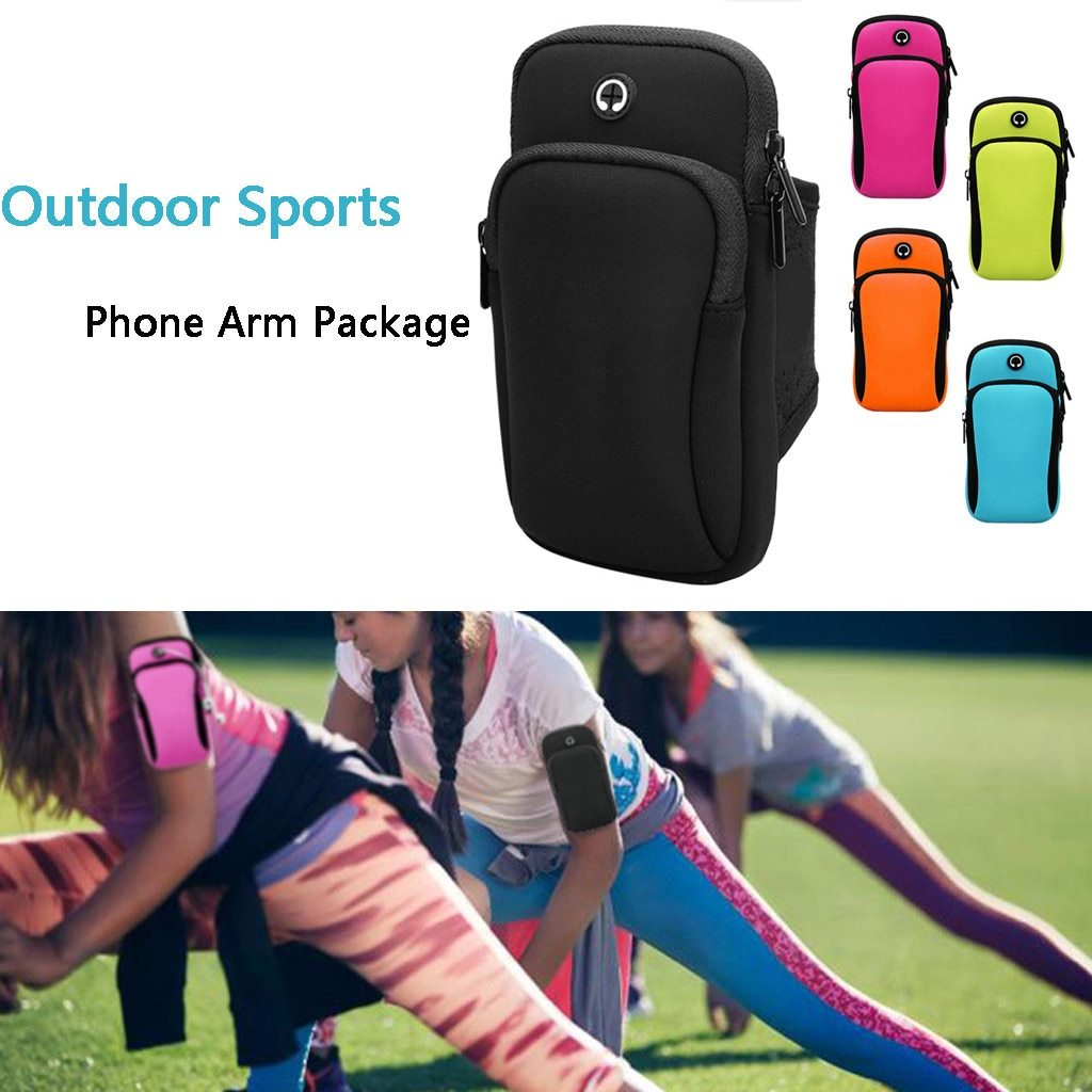 Running Bags Gym Bag Sport Accessories Running Wrist Band Bag Outdoor Sports Phone Arm Package Hiking Cell Strap Pocket Strong And Durable|Running Bags