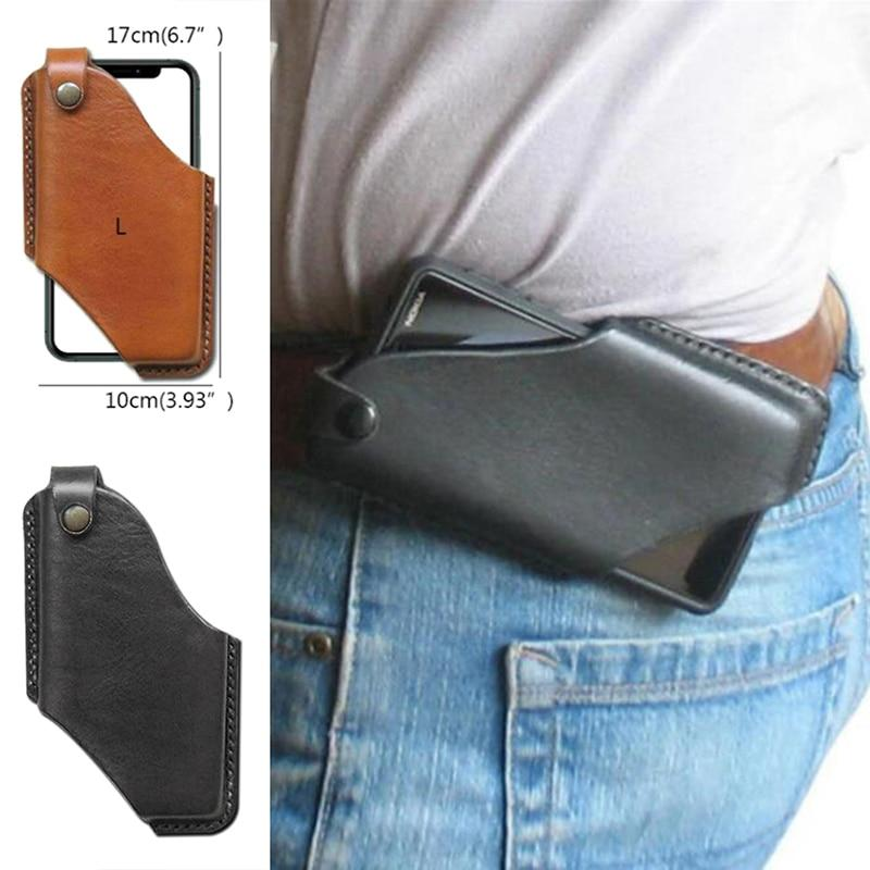 Phone Case & Covers New Hot Sale Men Cellphone Loop Holster Case Belt Waist Bag Props Leather Purse Phone Wallet|Phone Case & Covers