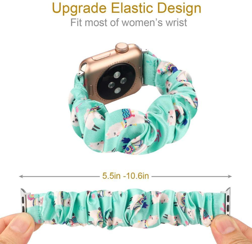 Watchbands New Scrunchie Elastic Strap for Apple watch Series 6 5 4 3 2 1 iwatch bands 38mm 40mm 42mm 44mm men and women correa bracelet watchband