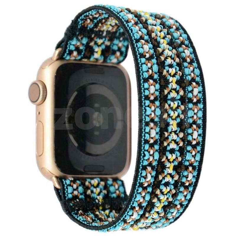 Watchbands Copy of Elastic stretch Scrunchie Strap for apple watch band 40mm 44 mm iwatch band 42mm 38mm girl women Stretchy bracelet apple watch series 5 4 3 2 38|Watchbands|