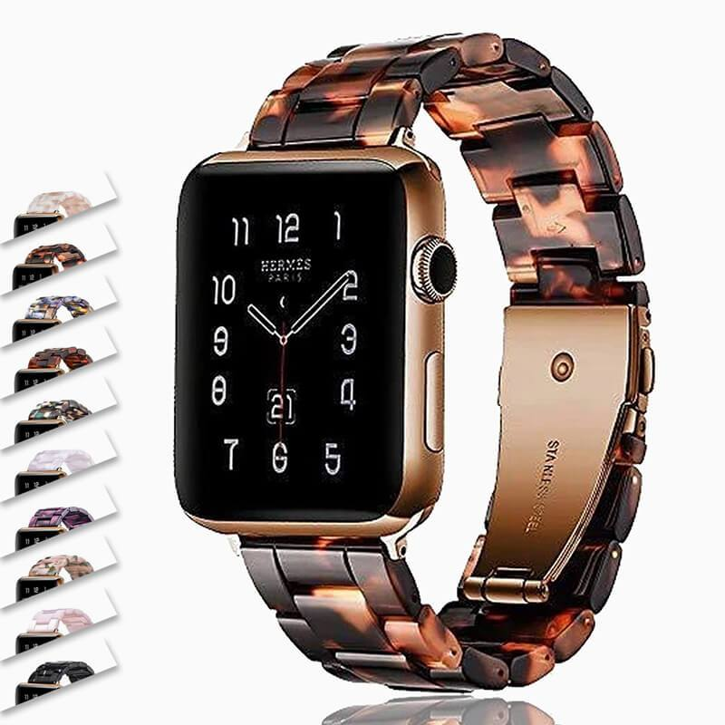 Watchbands Apple watch Resin Strap iwatch band stainless steel buckle Watchband bracelet for series 6 5 4 3 2 1, 38mm 40mm 42mm 44mm - US Fast Shipping