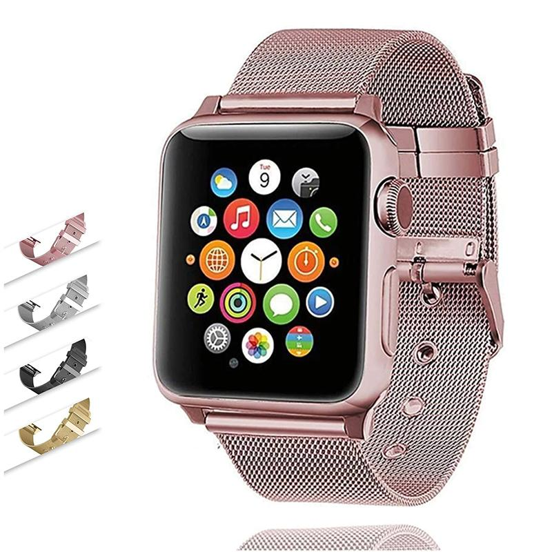 accessories Apple Watch Band milanese mesh steel loop w buckle Watchband 40mm 44mm