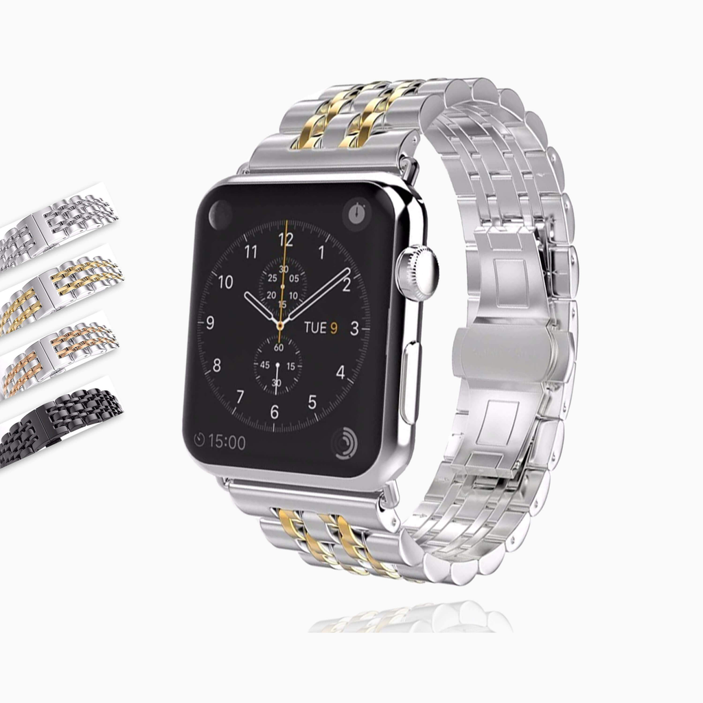 Apple Apple Watch Series 5 4 3 2 Band, Stainless Steel Rolex Style Strap, Links Watchband Smart Watch Metal Bracelet 38mm, 40mm, 42mm, 44mm - US Fast Shipping