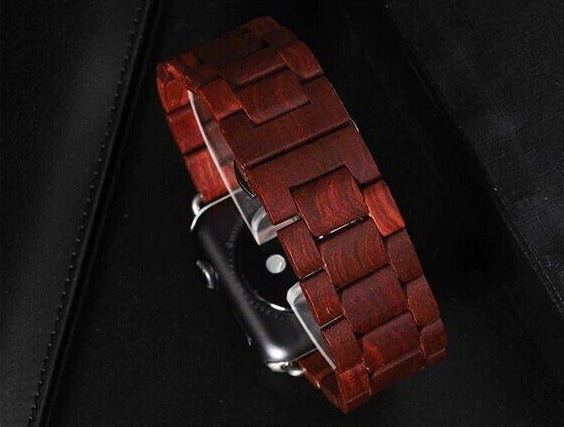 Watches Red Sandalwood / 38mm / 40mm Apple watch band, Green Natural Bamboo Watchbands, Wood Watch strap, iWatch fits 44mm,  42mm, 40mm, 38mm, Series 1 2 3 4 5 6
