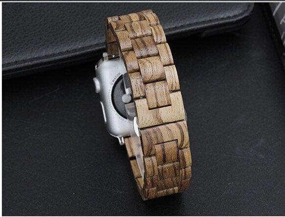 Watches Light Brown / 38mm / 40mm Apple watch band, Green Natural Bamboo Watchbands, Wood Watch strap, iWatch fits 44mm,  42mm, 40mm, 38mm, Series 1 2 3 4 5 6