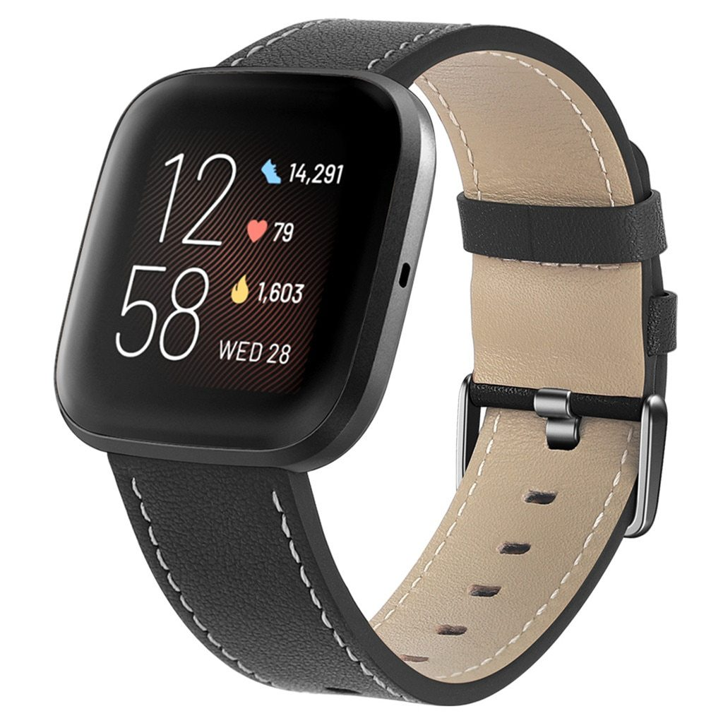 Wristband Replacement Luxury Leather Watch Strap Sports Wrist Strap For Fitbit Versa 2 Smart Watch Strap Smart Watch Accessories|Smart Accessories|