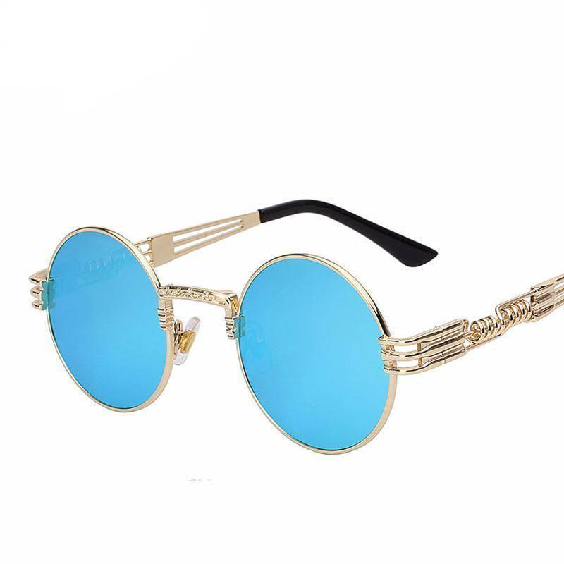 accessories 10 Colors, Gothic Steampunk  Unisex Metal Round Sunglasses UV400