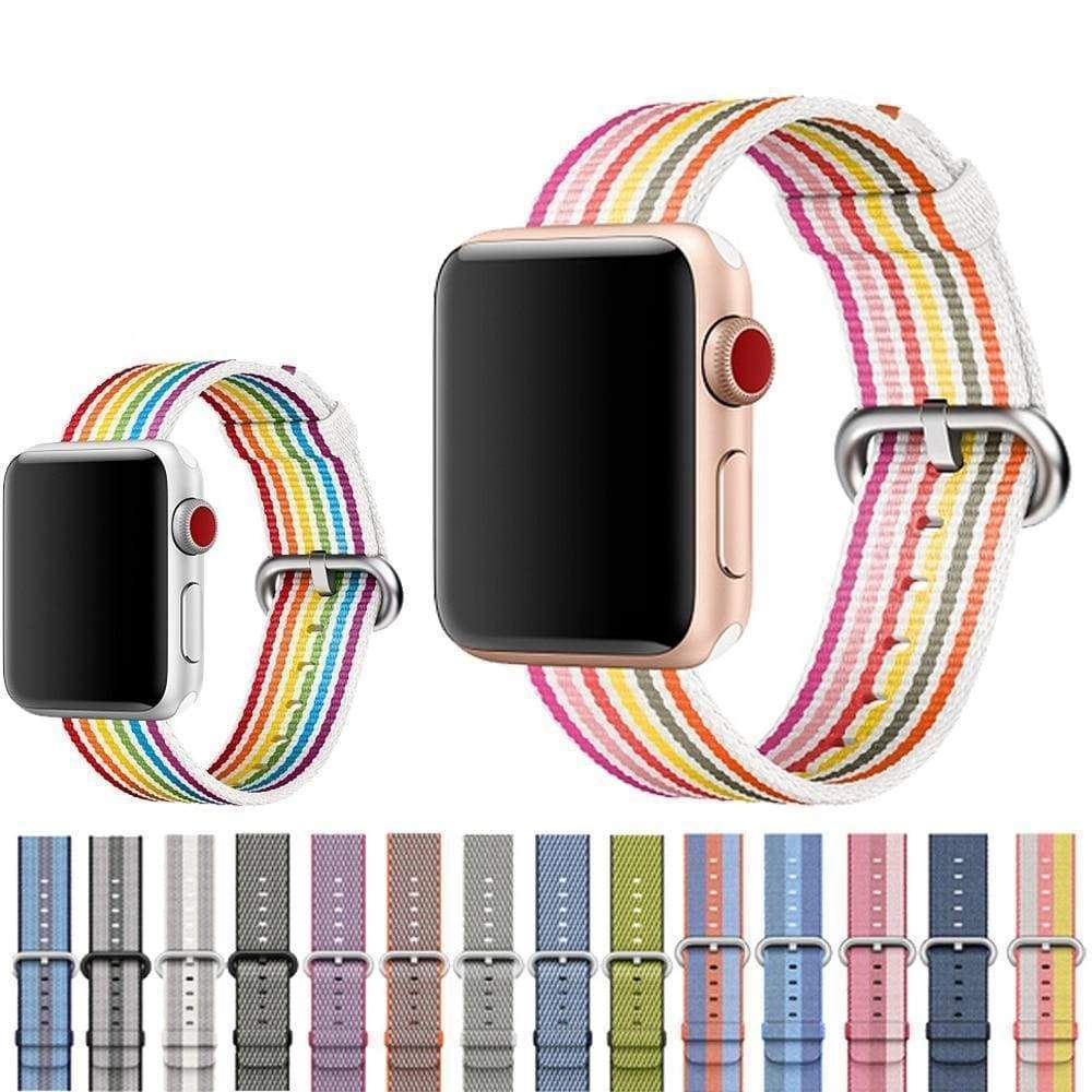 accessories Apple Watch Series 5 4 3 2 Band, Best Apple watch band Nylon Woven Loop 38mm, 40mm, 42mm, 44mm