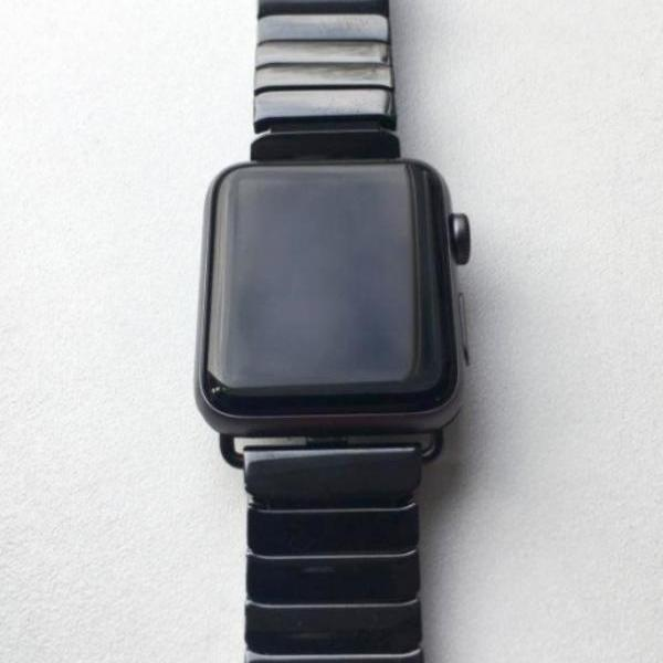 Accessories Apple Watch Series 5 4 3 2 Band, Ceramic link, Luxury Butterfly Clasp Loop Strap Black & white 38mm, 40mm, 42mm, 44mm - US Fast Shipping