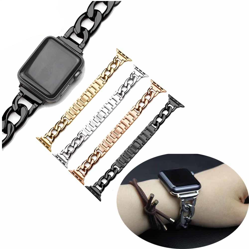accessories Apple Watch Series 5 4 3 2 Band, Chain link Bracelet Strap Metal Wrist Belt Replacement Clock Watch, 38mm, 40mm, 42mm, 44mm