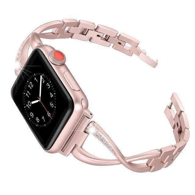 Accessories Apple Watch Series 5 4 3 2 Band, Elegant Crystal bling Rhinestone Bracelet, Stainless Steel for iwatch 38mm, 40mm, 42mm, 44mm - US fast shipping