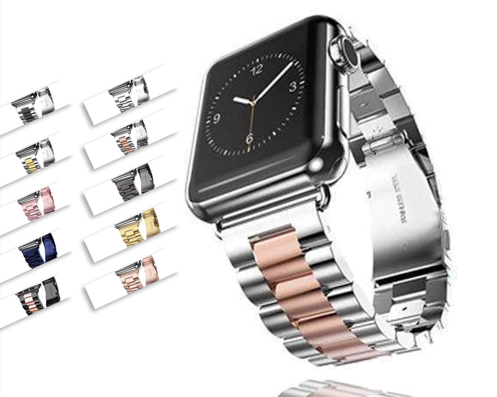 accessories Apple Watch Series 5 4 3 2 Band, Sport Link Stainless Steel Metal Rolex Style Strap with tool 38mm, 40mm, 42mm, 44mm - US Fast Shipping