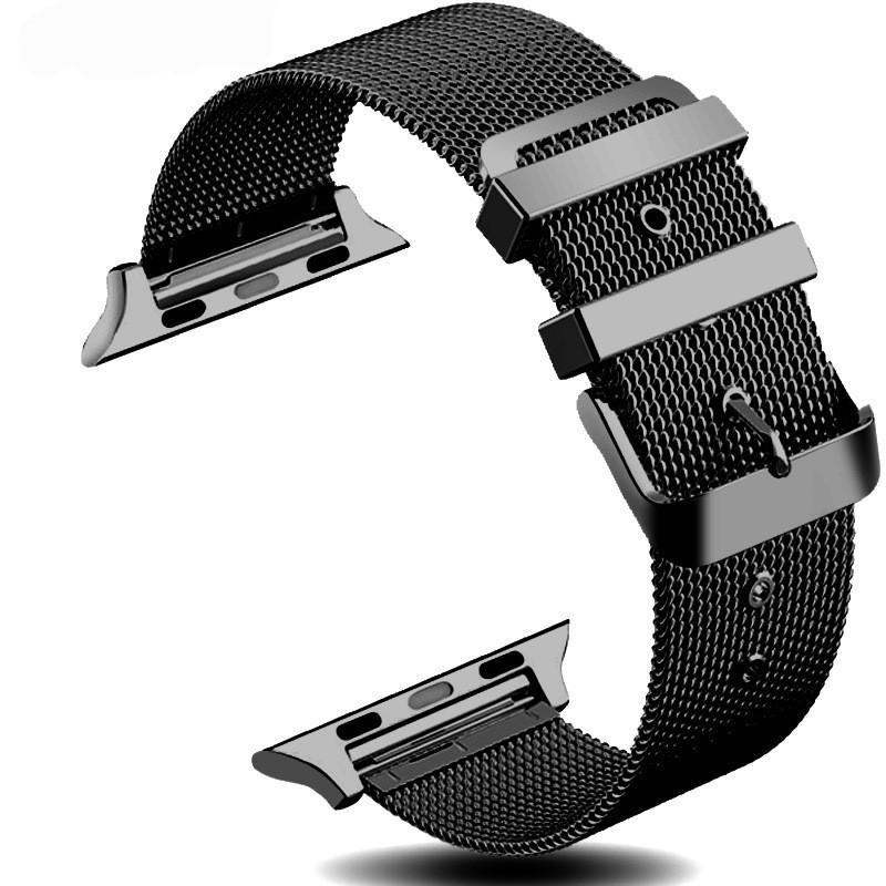 accessories Apple Watch Series 5 4 3 2 Band, Sport Milanese Loop with buckle, Stainless Steel iwatch 38mm, 40mm, 42mm, 44mm - US Fast Shipping