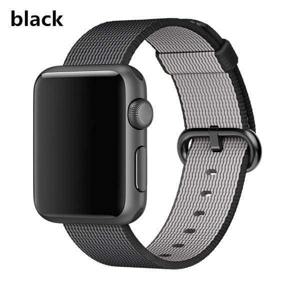 accessories black / 38mm / 40mm Apple Watch Series 5 4 3 2 Band, Best Apple watch band Nylon Woven Loop 38mm, 40mm, 42mm, 44mm