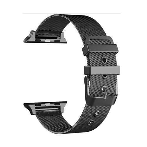 accessories Black / 38mm / 40mm Apple Watch Series 5 4 3 2 Band, Sport Milanese Loop with buckle, Stainless Steel iwatch 38mm, 40mm, 42mm, 44mm - US Fast Shipping