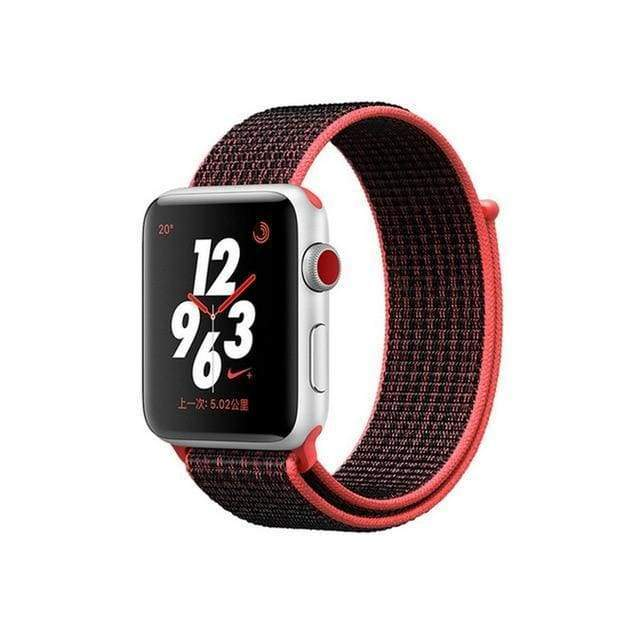 accessories black deep red / 38mm/40mm Apple Watch band Nylon sport loop strap 44mm/ 40mm/ 42mm/ 38mm iWatch Series 1 2 3 4 bracelet hook-and-loop wrist watchband accessories - US fast shipping