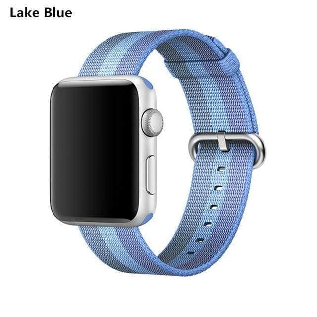 accessories Blue / 38mm / 40mm Apple Watch Series 5 4 3 2 Band, Best Apple watch band Nylon Woven Loop 38mm, 40mm, 42mm, 44mm