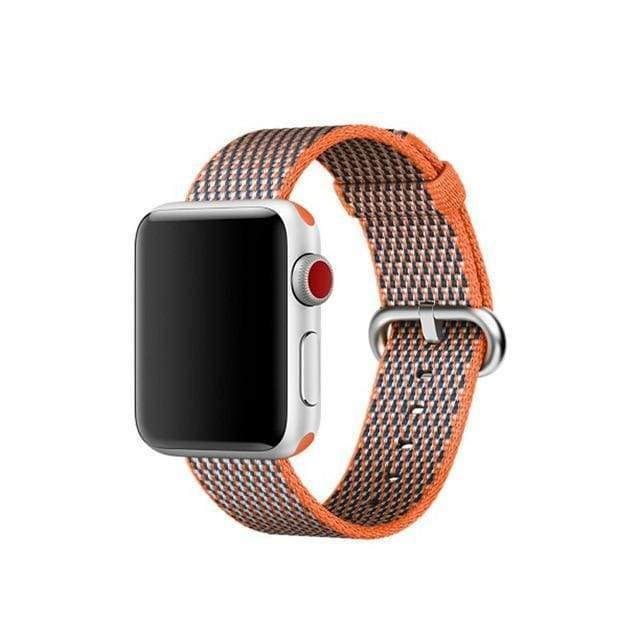 accessories Brown / 38mm / 40mm Apple Watch Series 5 4 3 2 Band, Best Apple watch band Nylon Woven Loop 38mm, 40mm, 42mm, 44mm
