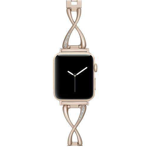 Accessories Gold / 42mm / 44mm Apple Watch Series 5 4 3 2 Band, Elegant Crystal bling Rhinestone Bracelet, Stainless Steel for iwatch 38mm, 40mm, 42mm, 44mm - US fast shipping