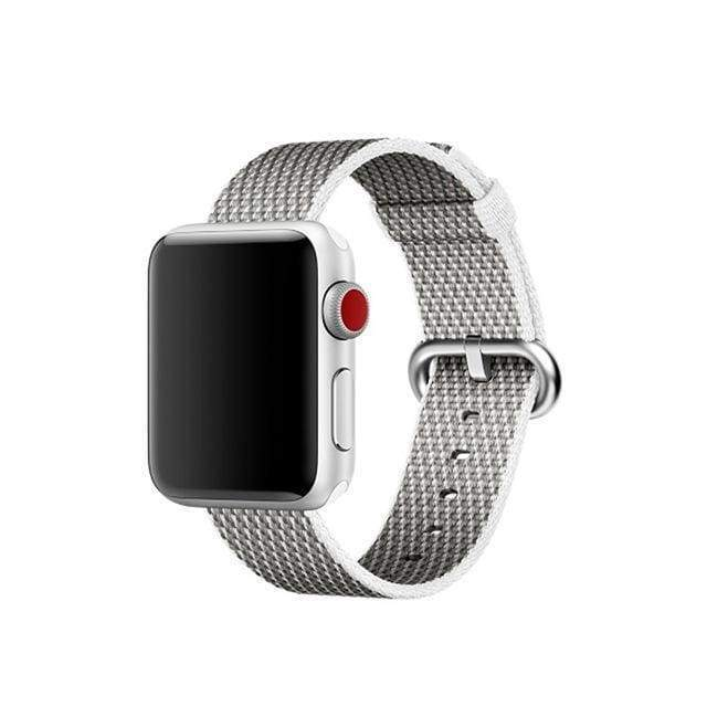accessories Grey / 38mm / 40mm Apple Watch Series 5 4 3 2 Band, Best Apple watch band Nylon Woven Loop 38mm, 40mm, 42mm, 44mm