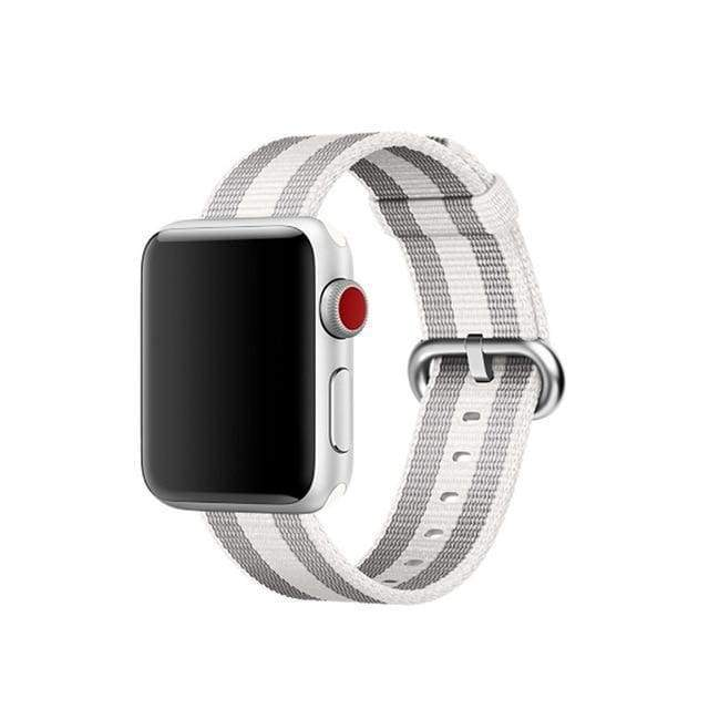 accessories Light Grey / 38mm / 40mm Apple Watch Series 5 4 3 2 Band, Best Apple watch band Nylon Woven Loop 38mm, 40mm, 42mm, 44mm