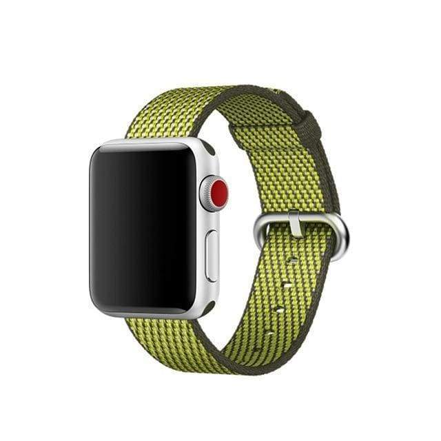 accessories Lime / 38mm / 40mm Apple Watch Series 5 4 3 2 Band, Best Apple watch band Nylon Woven Loop 38mm, 40mm, 42mm, 44mm