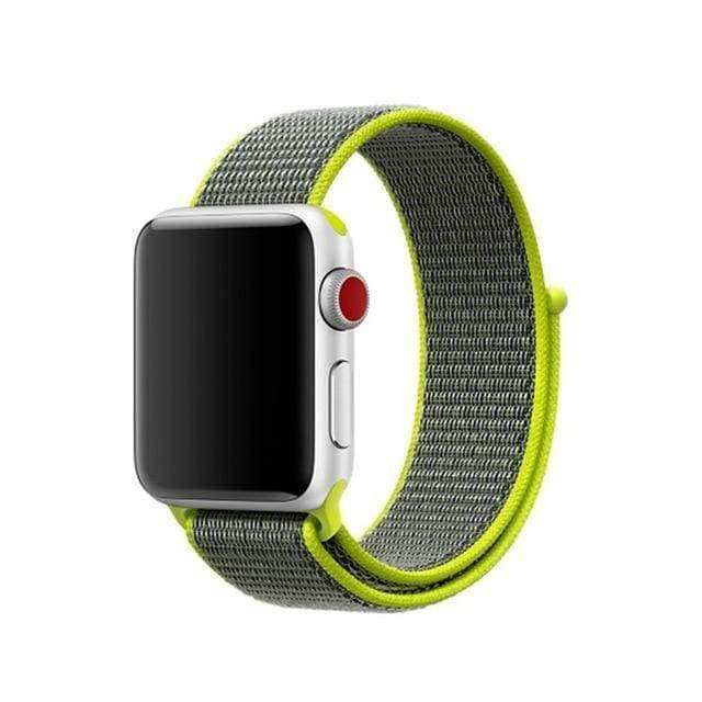 accessories loop light yellow / 38mm/40mm Apple Watch band Nylon sport loop strap 44mm/ 40mm/ 42mm/ 38mm iWatch Series 1 2 3 4 bracelet hook-and-loop wrist watchband accessories - US fast shipping