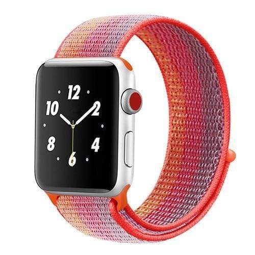 accessories orange blue / 38mm/40mm Apple Watch band Nylon sport loop strap 44mm/ 40mm/ 42mm/ 38mm iWatch Series 1 2 3 4 bracelet hook-and-loop wrist watchband accessories - US fast shipping
