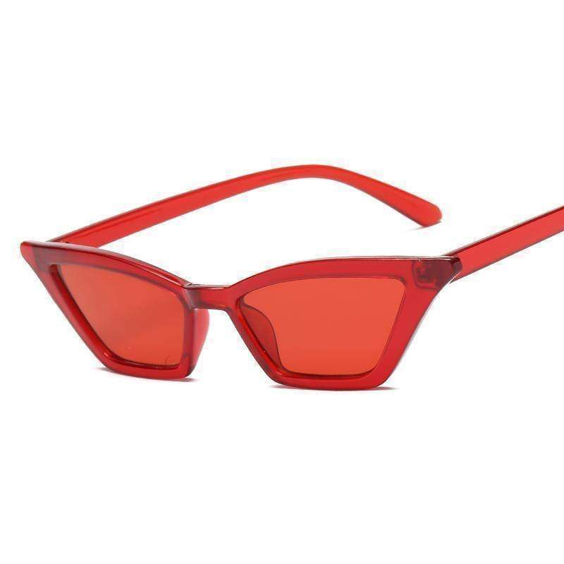Accessories red / with Sunglasses Bag Retro Vintage Sunglasses Women Cat Eye