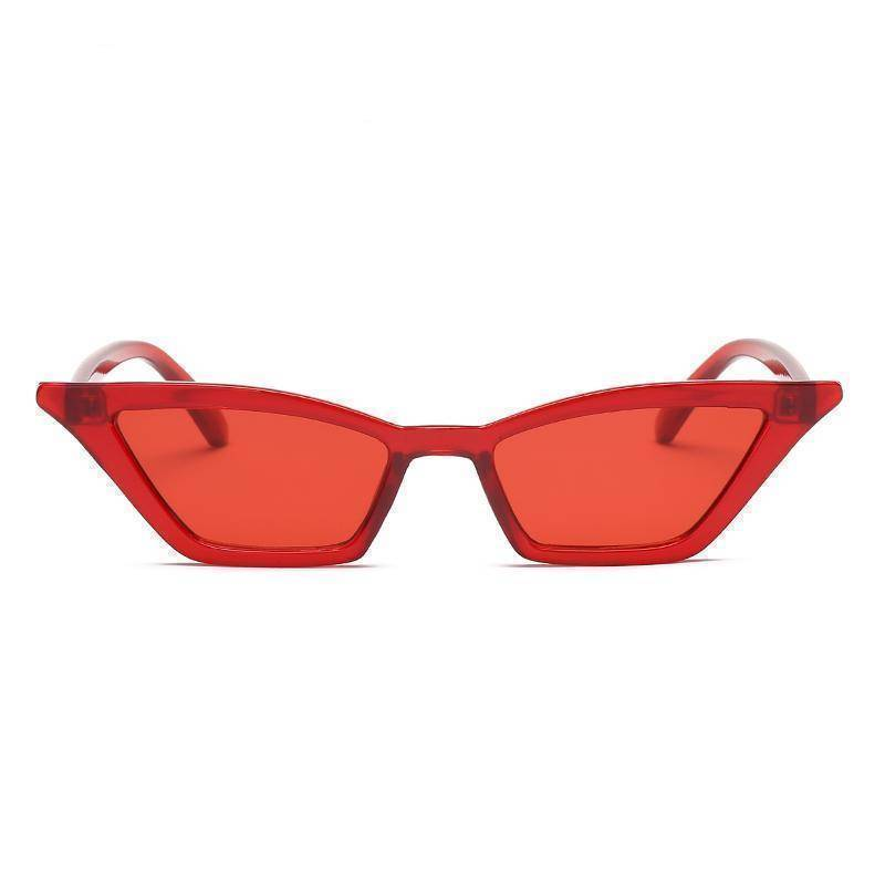 Accessories red / with Sunglasses Case Duplicate! Retro Vintage Sunglasses Women Cat Eye