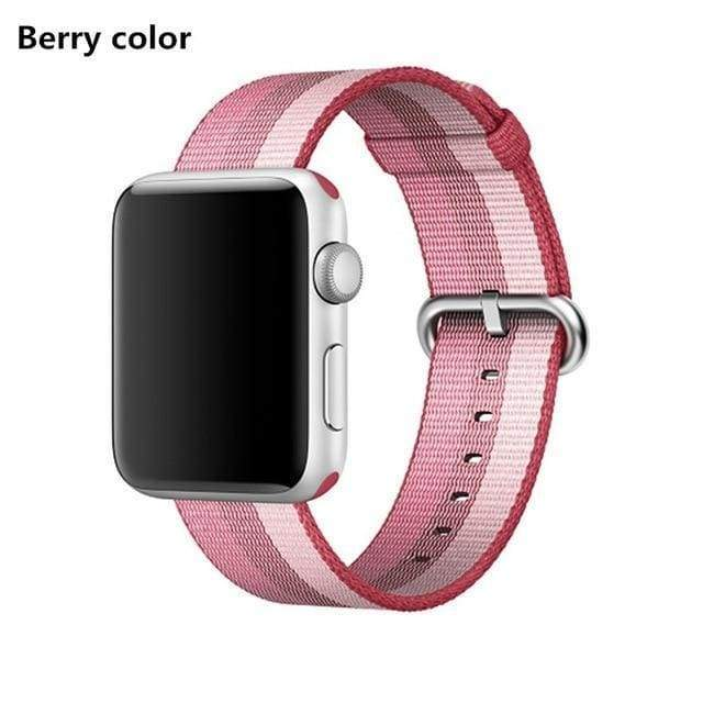 accessories Rose / 38mm / 40mm Apple Watch Series 5 4 3 2 Band, Best Apple watch band Nylon Woven Loop 38mm, 40mm, 42mm, 44mm