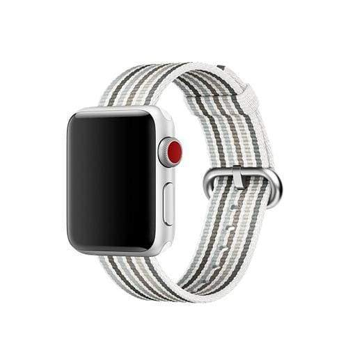 accessories Silver / 38mm / 40mm Apple Watch Series 5 4 3 2 Band, Best Apple watch band Nylon Woven Loop 38mm, 40mm, 42mm, 44mm