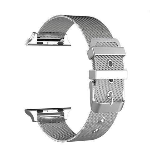 accessories Silver / 38mm / 40mm Apple Watch Series 5 4 3 2 Band, Sport Milanese Loop with buckle, Stainless Steel iwatch 38mm, 40mm, 42mm, 44mm - US Fast Shipping