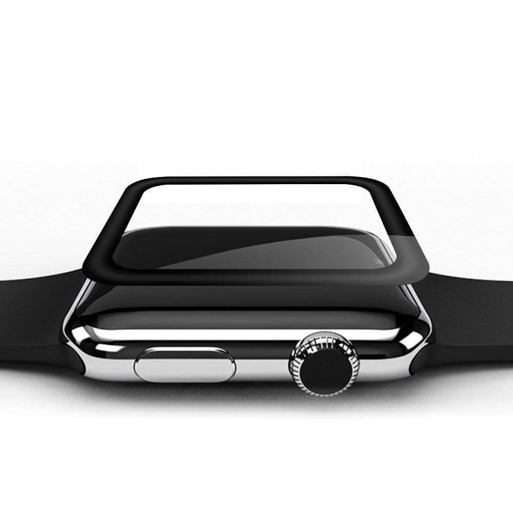 Apple 42mm / Black 3D Curved Full Cover Tempered Glass For Apple Watch Series 1 2 3 4  44mm/ 40mm/ 42mm/ 38mm Screen Protector Surface Protective Film