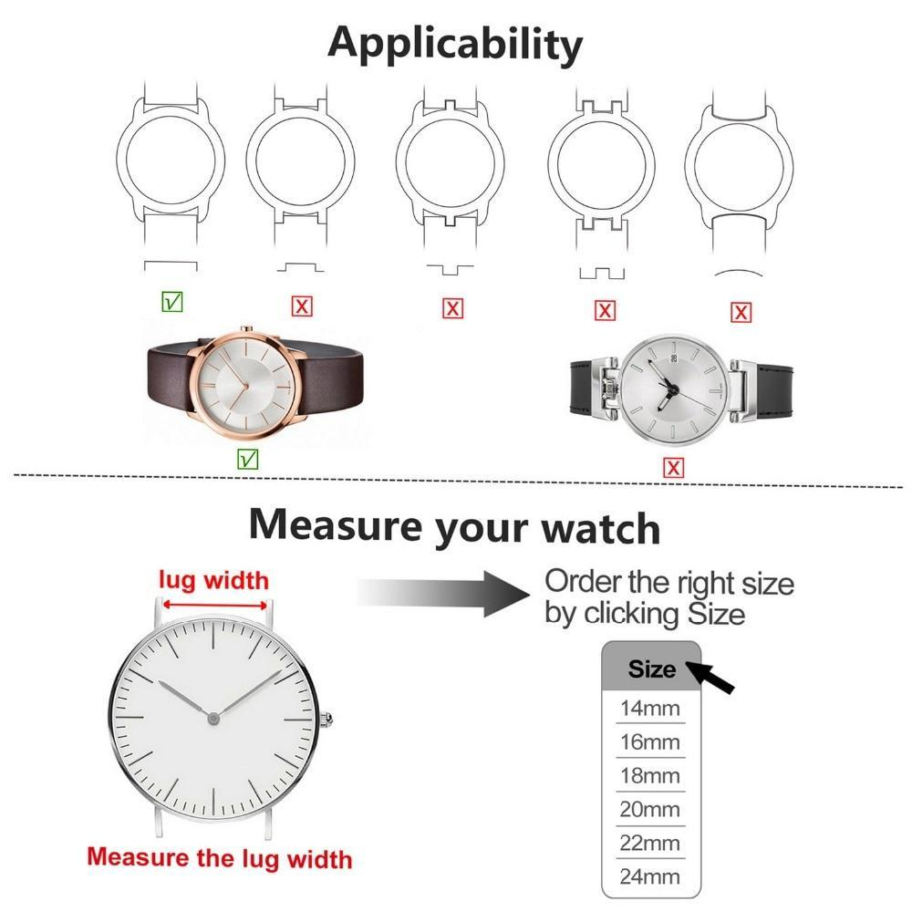 Apple 8 Colors for Quick Release Canvas Watch Band, Fullmosa NATO style Watch Strap 18mm 20mm 22mm 24mm Replacement Watch Straps