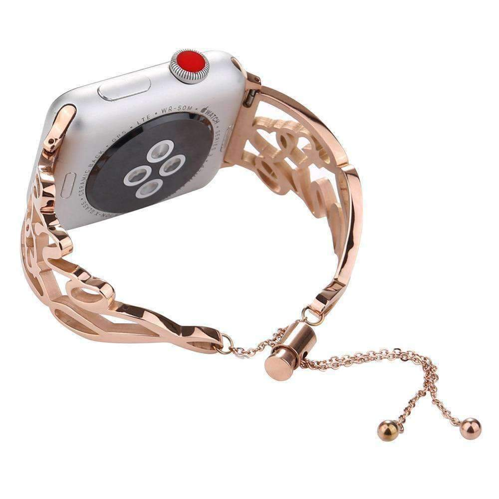 Apple Apple Watch Band Love bracelet adjustable cuff Iwatch 44mm/ 40mm/ 42mm/ 38mm Metal Ladies Watch Strap Series 1 2 3 4