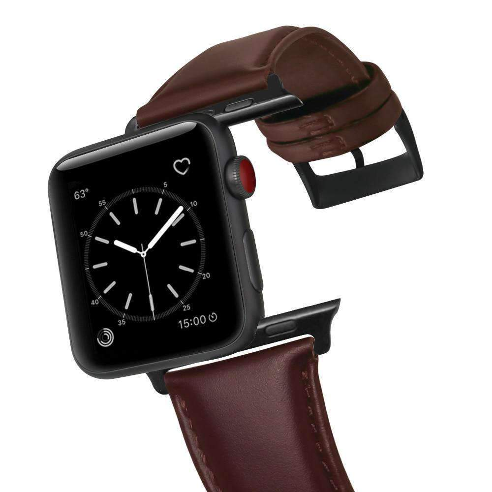 Apple Apple watch band mens Genuine Leather Wax Oil Skin band bracelet for Apple Watch Series 1 2 3 4 Watchband Replacement Strap Men 44mm/ 40mm/ 42mm/ 38mm