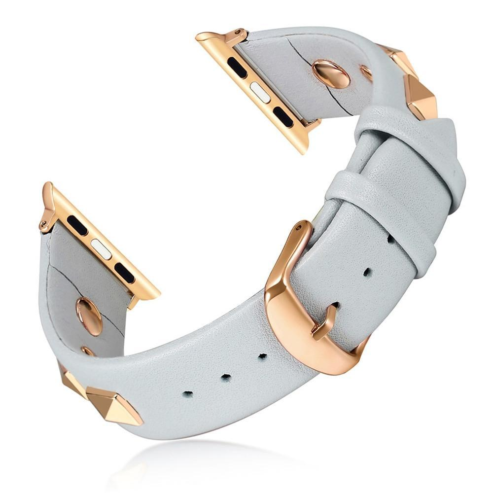 Apple Apple Watch Band, Punk Studded Leather Rivets studs Design, fits iWatch, 38mm, 40mm, 42mm, 44mm  Series 5 4 3