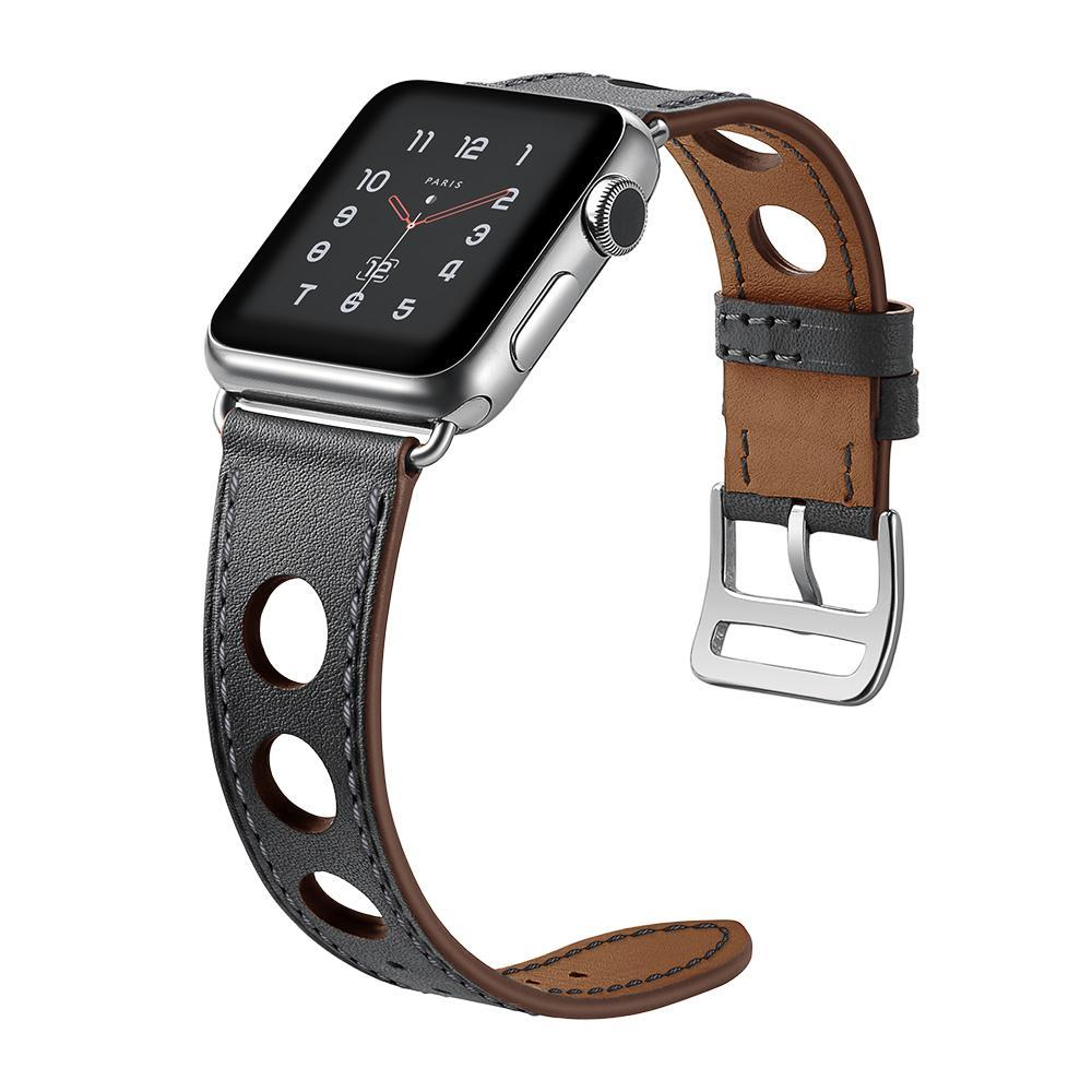 Apple Apple Watch band single leather tour 42mm 38mm 44mm 40mm iwatch series 4/3/2/1 belt replacement clock bracelet wrist, USA Fast Shipping