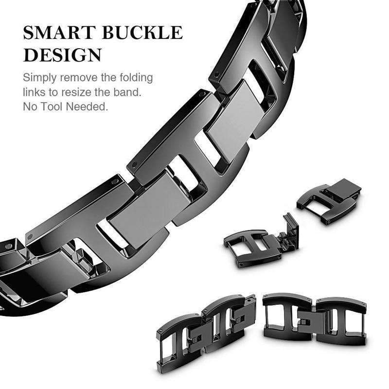 Apple Apple Watch bling diamond band, 38mm 40mm 42mm 44mm, Luxury Stainless Steel Link Strap For iWatch Series 3 2 1 - US Fast shipping