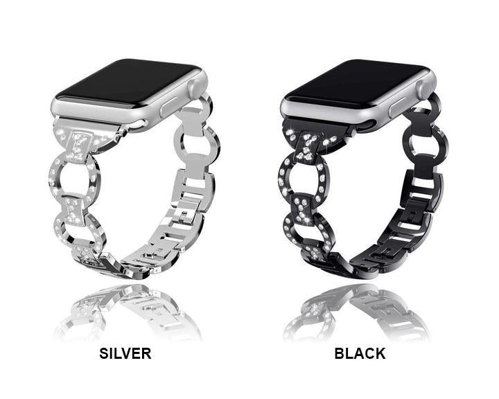 Apple Apple Watch bling diamond band, 38mm 40mm 42mm 44mm, Luxury Stainless Steel Link Strap For iWatch Series 5 4 3 2 1 - US Fast shipping