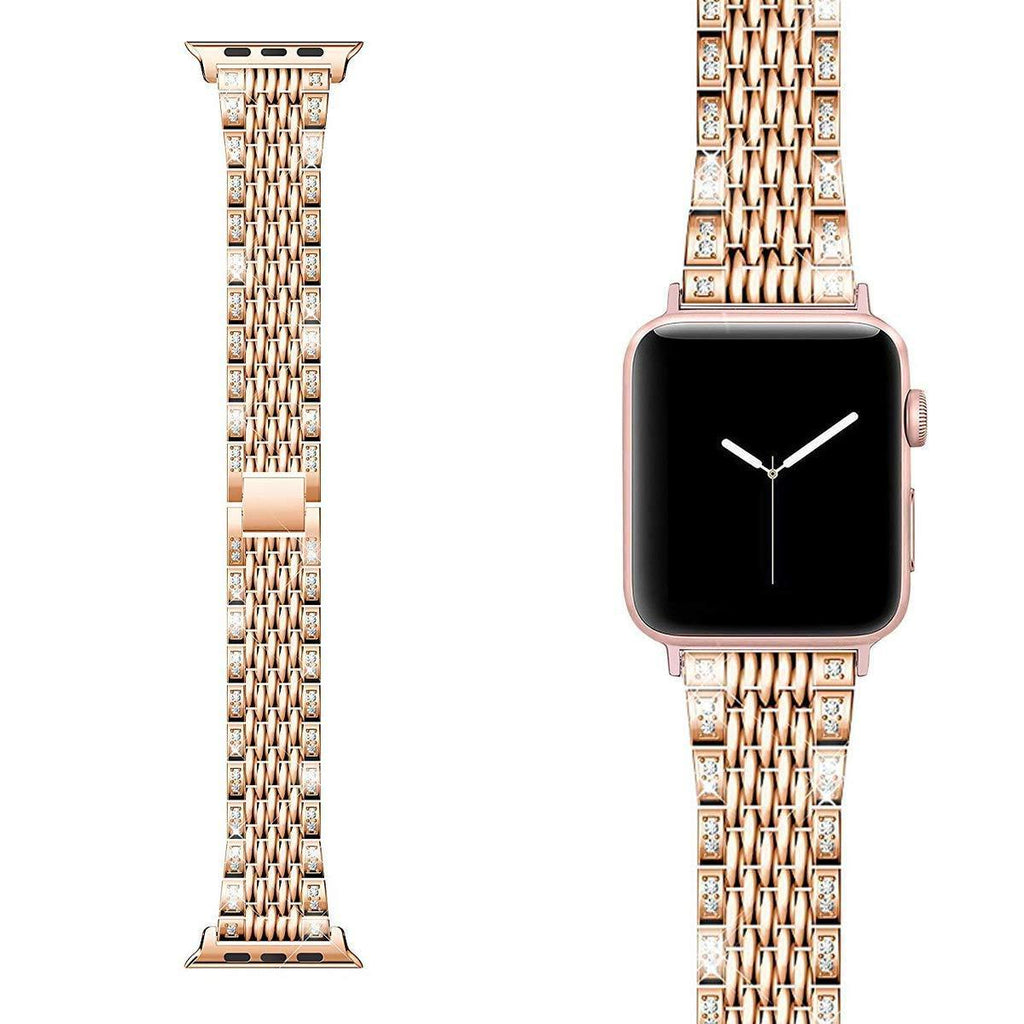 Apple Apple watch bling women band, Shiny diamond crystal cz bracelet strap, Stainless steel watchband,  For iwatch 42mm 38mm  44mm 40mm Series 5 4 3
